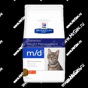 Hill's Prescription Diet m/d Diabetes/Weight Management сухой корм для кошек с курицей