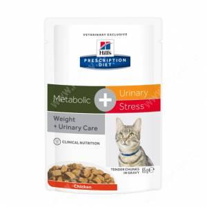 Hill's Prescription Diet Metabolic & Urinary Stress Feline влажный корм для кошек с курицей, 85г