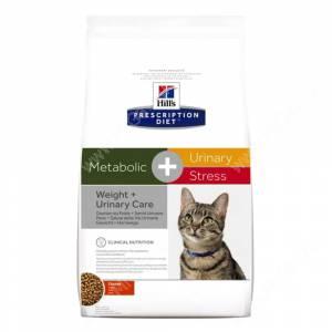 Hill's Prescription Diet Metabolic & Urinary Stress Feline сухой корм для кошек с курицей, 1,5 кг