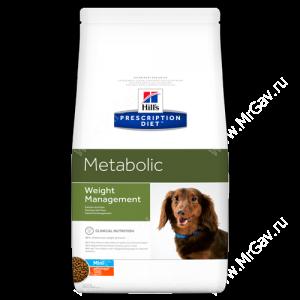 Hill's Prescription Diet Metabolic Mini Weight Management сухой корм для собак с курицей, 1,5 кг