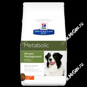 Hill's Prescription Diet Metabolic Weight Management сухой корм для собак с курицей