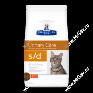 Hill's Prescription Diet s/d Urinary Care сухой корм для кошек с курицей