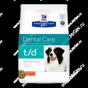 Hill's Prescription Diet t/d Dental Care сухой корм для собак с курицей