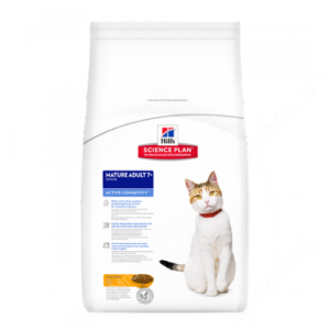 Hill's Science Plan Active Longevity сухой корм для кошек старше 7 лет курица, 10 кг