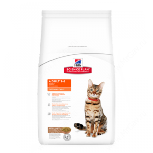 Hill's Science Plan Optimal Care сухой корм для кошек с ягненком