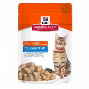 Hill's Science Plan Optimal Care влажный корм для кошек с океанической рыбой, 85 г