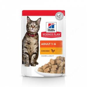 Hill's Science Plan Optimal Care влажный корм для кошек курица, 85 г