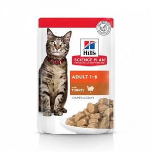 Hill's Science Plan Optimal Care влажный корм для кошек с индейкой, 85 г