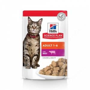 Hill's Science Plan Optimal Care влажный корм для кошек с говядиной, 85 г