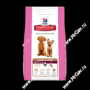 Hill's Science Plan Small & Miniature сухой корм для собак мелких и миниатюрных пород ягненок с рисом