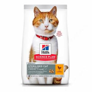 Hill's Science Plan Sterilised Cat сухой корм для кошек и котят, с курицей