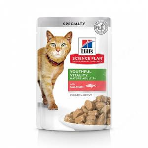 Hill's Science Plan Youthful Vitality влажный корм для кошек старше 7 лет с лососем, 85 г