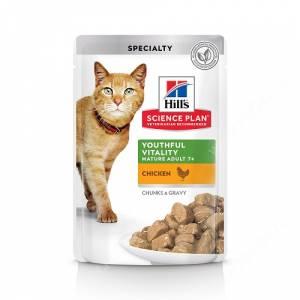 Hill's Science Plan Youthful Vitality влажный корм для кошек старше 7 лет курица, 85 г