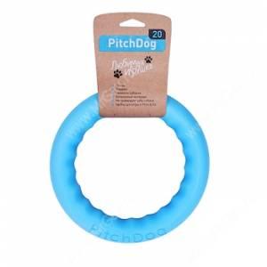 Игровое кольцо для апортировки PitchDog 30, 28 см, голубое