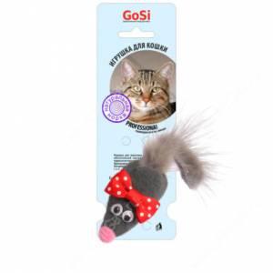 Игрушка для кошек GoSi Мышь Микки с норковым хвостом