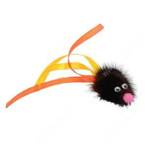 Игрушка для кошек GoSi Мышь с хвостом из лент