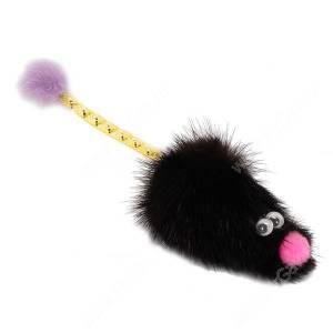 Игрушка для кошек GoSi Мышь с хвостом трубочка