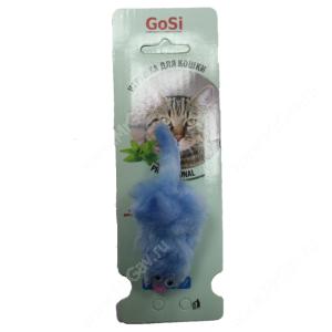 Игрушка для кошек GoSi Мышь с меховым хвостом