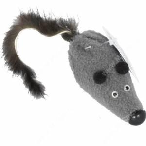 Игрушка для кошек GoSi Мышь с норковым хвостом
