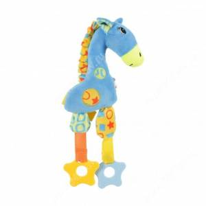 Игрушка плюшевая для собак Zolux жираф, 30 см, голубая
