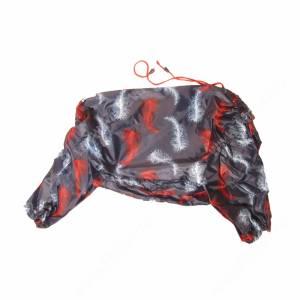 Дождевик Гамма для кокер-спаниеля, черный с листьями