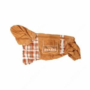 Дождевик Dezzie для таксы кроличьей (сука), коричневый