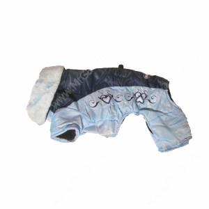 Комбинезон Dezzie сине-голубой с воротником, 40 см