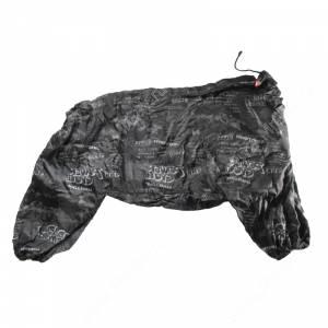 Комбинезон утепленный Гамма для овчарки, черный с надписями