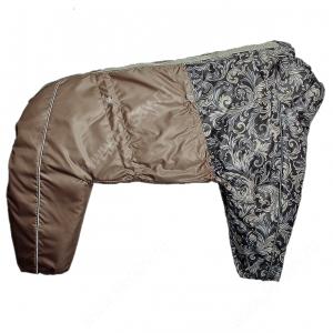 Комбинезон синтепоновый OSSO, девочка, 55 см, модель 2, коричневый