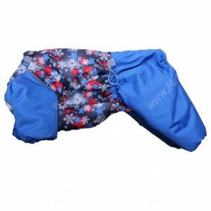 Комбинезон синтепоновый OSSO Снежинка, мальчик, 28 см, синий