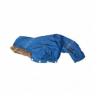 Комбинезон утепленный с капюшоном, синий, 40 см