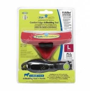 Комбо против линьки FURminator FURflex (фурминатор + ручка) для собак крупных пород