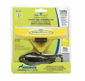 Комбо против линьки FURminator FURflex (фурминатор + ручка) для собак гигантских пород