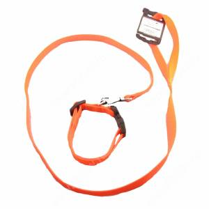 Комплект нейлоновый Ferplast Club поводок + ошейник  120 см*1,5 см/44 см*1,5 см, оранжевый