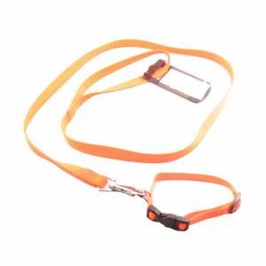 Комплект нейлоновый Ferplast Club поводок + ошейник 120 см*1,5 см,/32 см*1 см, оранжевый