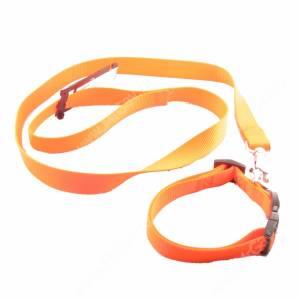 Комплект нейлоновый Ferplast Club поводок + ошейник 120 см*2,5 см/56 см*2 см, оранжевый
