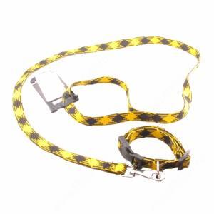 Комплект нейлоновый Ferplast Yuppy поводок + ошейник  110 см*1,5 см/32 см*1,5 см, желтый