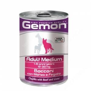 Консерва Gemon Dog Medium (Кусочки говядины с печенью), 415 г