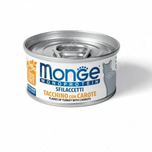 Консерва Monge Cat Monoprotein (Хлопья из индейки с морковью), 80 г
