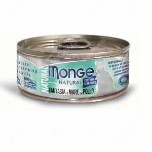 Консерва Monge Cat Natural (Морепродукты с курицей), 80 г