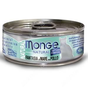 Консерва Monge Cat Natural (Морепродукты с курицей)
