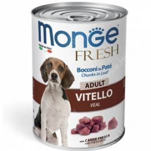 Консерва Monge Dog Fresh для взрослых собак (телятина), 400 г