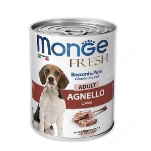 Консерва Monge Dog Fresh для взрослых собак (ягненок), 400 г