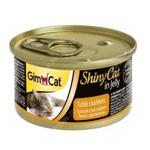 Консервы для кошек GimCat ShinyCat из тунца с цыпленком