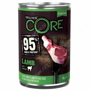 Консервы для собак Wellness Core из ягненка с тыквой