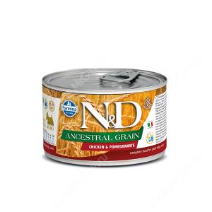 Консервы Farmina N&D Ancestral Grain Chicken&Pomegranate Adult Dog Mini, 140 г