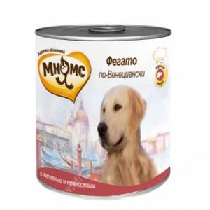 Консервы Мнямс для собак Фегато по-Венициански (телячья печень с пряностями), 600 г