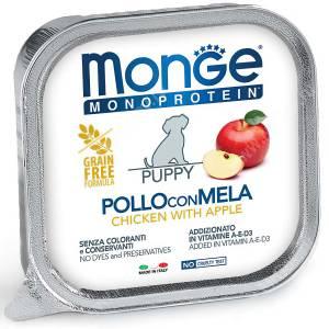 Консервы Monge Dog Monoprotein Fruits для щенков (Паштет из курицы), 150 г