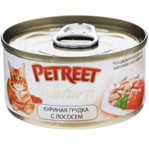Консервы Petreet куриная грудка с лососем, 70 г