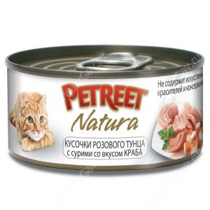 Консервы Petreet кусочки розового тунца с крабом сурими, 70 г